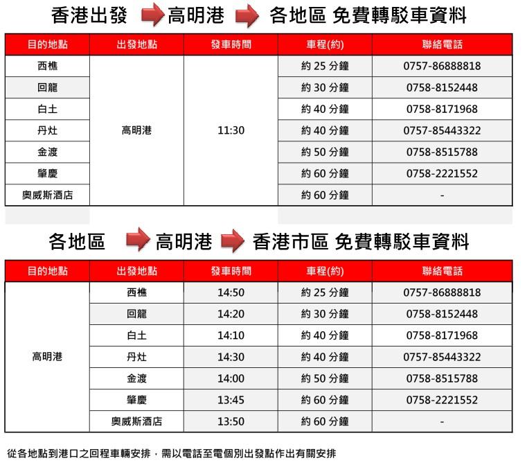香港中港城往返高明港雙程船票,中港城到高明港,高明港到中港城,香港往返高明雙程船票,香港高明雙程船票預訂