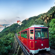 香港太平山頂雙程纜車+凌霄閣摩天台428套票(QR code入閘)