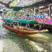 曼谷水上市場+木偶劇場美食發現一日遊(私人導覽包車)